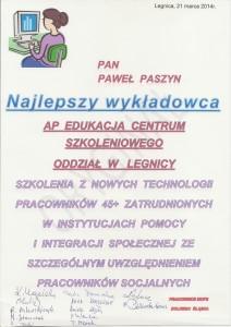 Dyplom Paszyna