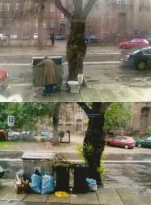 Śmietniki i ubóstwo Legnica 2012
